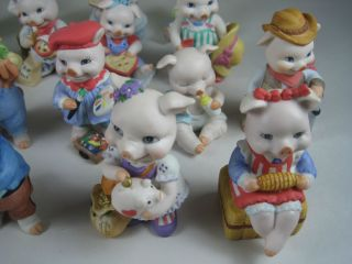 Lot 20 Bronson Collectibles Precious Pigs All Mint Figurines