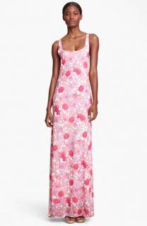 Thakoon Floral Print Jersey Maxi Dress