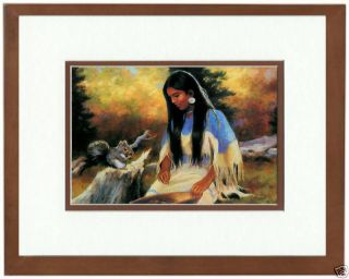 Suprise Encounter by Carole Coffman Native American