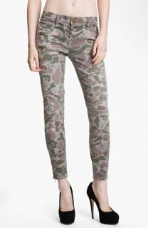 Current/Elliott Zip Skinny Jeans (Grey Camo)