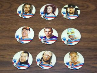 WWE Superstars Lapel Collector Pins Set of 10