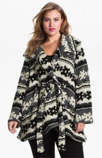 Evans Pattern Knit Coat (Plus)