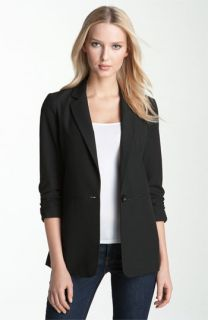 MICHAEL Michael Kors Ruched Sleeve Boyfriend Jacket