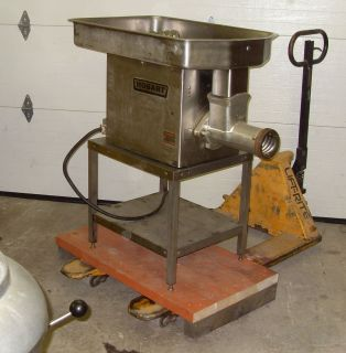 2HP 3 phase Commercial Large Capacity Meat Grinder Chopper on table