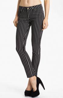 Paige Skyline Skinny Stretch Ankle Jeans (Black/White)