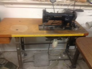 Singer 111W155 Industrial Commercial Sewing Machine with Table