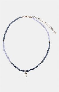 Topshop Beaded Cross Charm Necklace