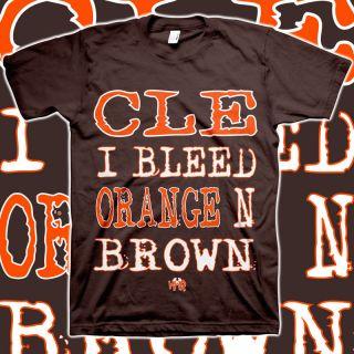 CLE I Bleed Orange N Brown Shirt Cleveland Browns MGK Machine Gun