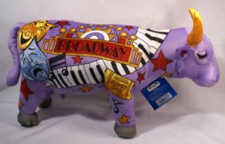 Cow Parade Broadway Plush Stuffed Animal Purple Music Show Large