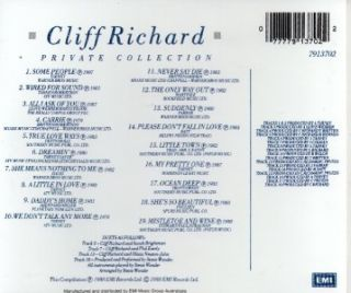 CLIFF RICHARD   PRIVATE COLLECTION 1979 1988 CD