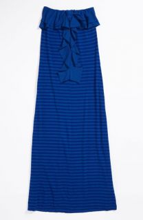 T2 Love Strapless Ruffle Maxi Dress (Big Girls)
