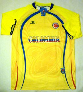 Colombia Soccer Football Jersey With Original Store Tag By Drako Adult
