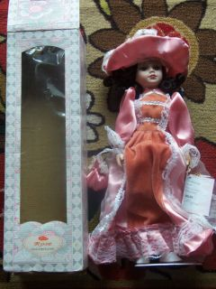 Collectible Porcelain Doll Rose Collection Collectible Vintage Doll