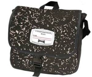 New Composition Notebook School Messenger Bag Black
