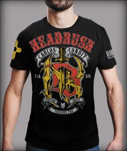 Headrush Carlos Condit Signature MMA Shirt Black Medium