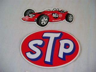 Vintage 2 Unused 1967 STP Parnelli Jones Turbine Indy Race Car 40
