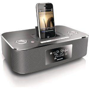 Philips DC290 37 Docking Clock Radio for iPod iPhone Aluminium
