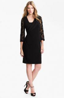 Alex Evenings Chiffon Detail Jersey Shift Dress