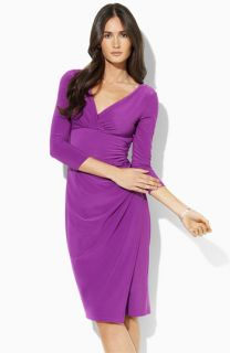 Lauren by Ralph Lauren Faux Wrap Jersey Dress (Petite)