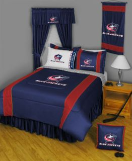 NHL Columbus Blue Jackets Twin Comforter Sheets Bed Set