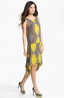 Kay Celine Print Drop Waist Dress