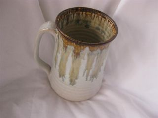 Handcrafted Pottery Drip Glaze Tall Large 18oz Coffee Mug Artist
