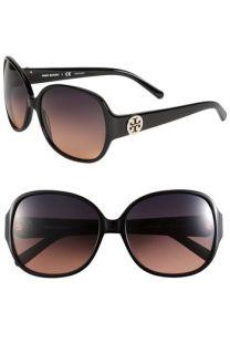 Tory Burch Disco Logo Rounded Sunglasses