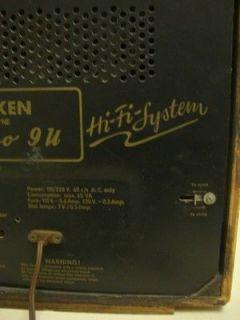 Telefunken Hi Fi Short Wave Tube Radio Concerto 9U