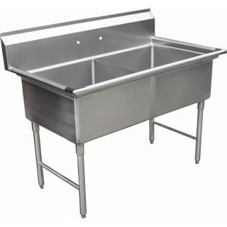 Compartment Commercial Stainless Steel Sink 18x18 NSF