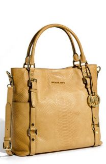 MICHAEL Michael Kors Bedford Python Embossed Leather Tote