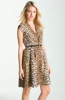kate spade new york roxanne animal print silk dress
