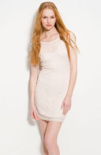 Free People Fitted Short Sleeve Lace Dress