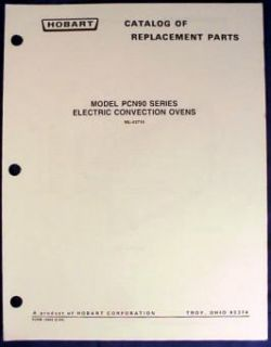 hobart electric convection oven pcn90 parts catalog