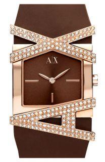 AX Armani Exchange Pavé Logo Watch
