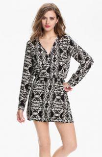 Parker Faux Wrap Print Silk Dress