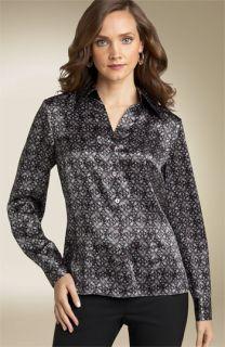 Tesori Printed Silk Blouse