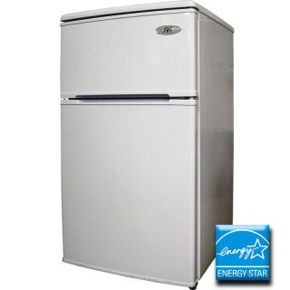 Compact Double Door Refrigerator Freezer Energy Star Office Dorm Mini
