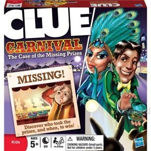 Clue Carnival Family Board Game The Case of Missing Prizes New Play
