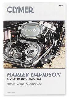 CLYMER REPAIR/SERVICE MANUAL HARLEY DAVIDSON SHOVELHEADS 66 84