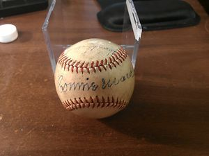 Connie Mack Signed Baseball JSA LOA COA Philadelphia Athletics