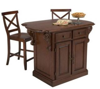 Home Styles Traditions Kitchen Island Set —