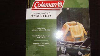 NIB   Coleman Camp Stove TOASTER   Steel   Cooks 4   NEVER USED STILL