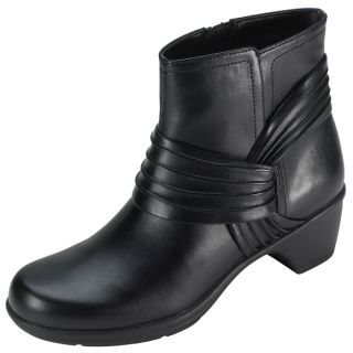 NEW Comfort Plus Womens Margo Classic Ankle Boots Black Size 9W