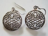 Sterling Silver Celtic Inspired Earrings French Wires 75