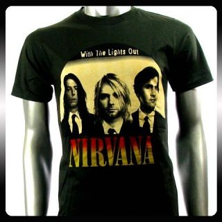 Nirvana Kurt Cobain Alternative Rock Men T Shirt Sz M Punk