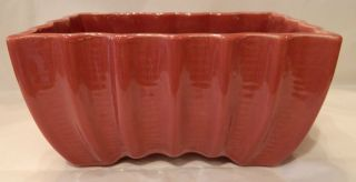 Vintage Cookson Pottery Dark Pinkish Burgundy Planter 3807 USA Nice