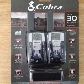 COBRA Walkie Talkie,, 2 Way Radios CXR875,,Up To 30 Mile Range,,3124
