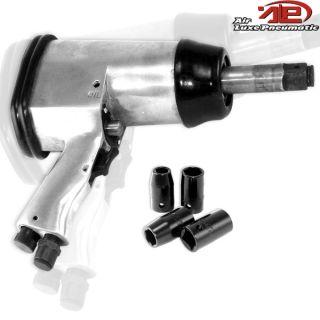 Air Compressor Impact Gun Wrench w Sockets Long Shank 250 ft lb