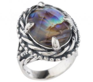 Carolyn Pollack Sterling Mystic Moments Abalone Ring —