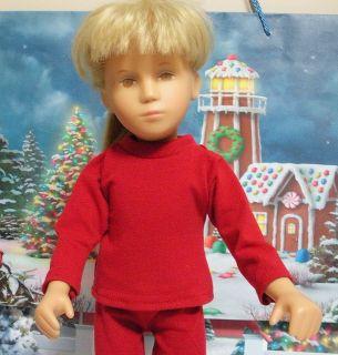 Fits 16 Inch Sasha Doll .Red Long Sleeve T Shirt D129